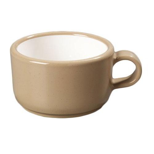 Carlisle 4512-19 Jumbo Soup Latte Mug, 12 oz., Stone SAN Exterior