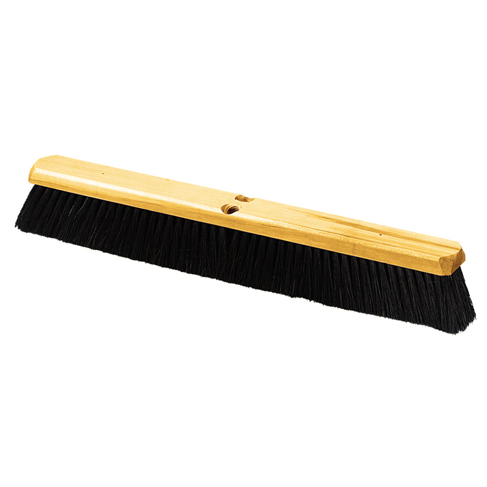 "Carlisle 4513600 24"" Floor Sweep - Medium, Hardwood Block, 3"" Black Tampico/Wire Bristles"