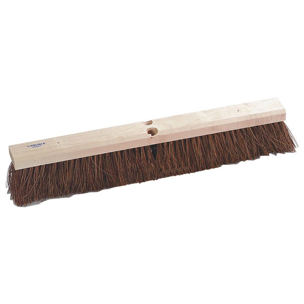"Carlisle 4522400 36"" Floor Sweep Head - Coarse/Heavy, Hardwood Block, 4"" Trim, Palmyra Bristles"