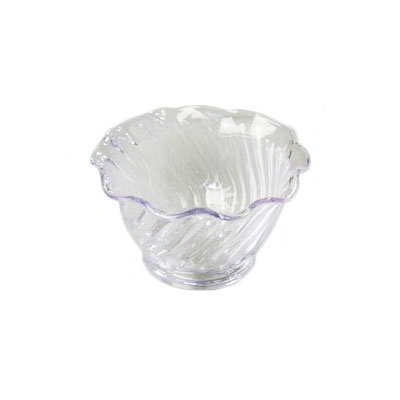 Carlisle 4530-907 5-oz Tulip Dessert Dish - (12/Pk) Scalloped Edging, Clear