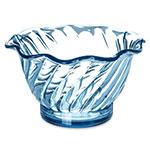 "Carlisle 453054 3.75"" Round Tulip Dessert Dish w/ 5-oz Capacity, Plastic, Ice Blue"