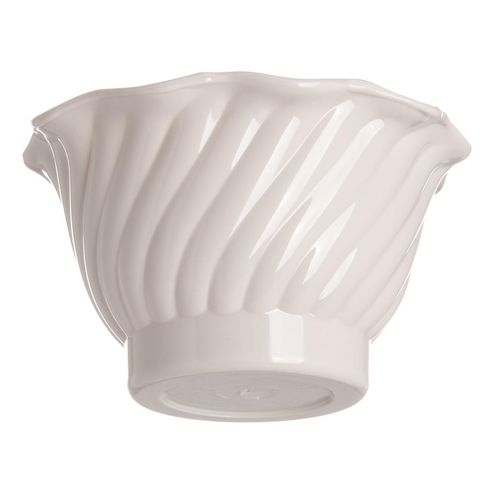 """Carlisle 453042 3.75"""" Round Tulip Dessert Dish w/ 5-oz Capacity, Plastic, Bone"""
