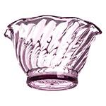 "Carlisle 453055 3.75"" Round Tulip Dessert Dish w/ 5-oz Capacity, Plastic, Ice Pink"
