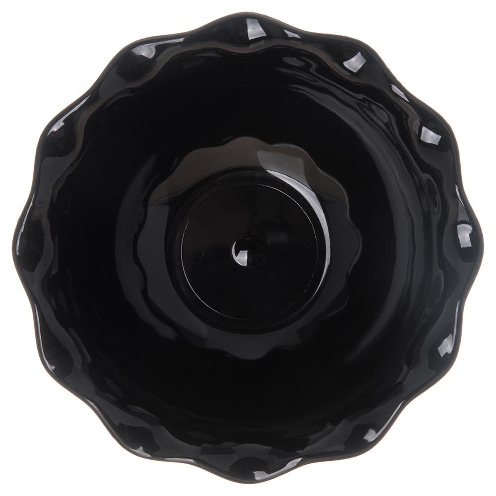"""Carlisle 453103 4.625"""" Round Tulip Dessert Dish w/ 5-oz Capacity, Plastic, Black"""