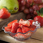 "Carlisle 453107 4.625"" Round Tulip Berry Dish w/ 5-oz Capacity, Plastic, Clear"