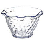 Carlisle 453207 5-oz Tulip Dessert Dish - Scalloped Edging, Clear