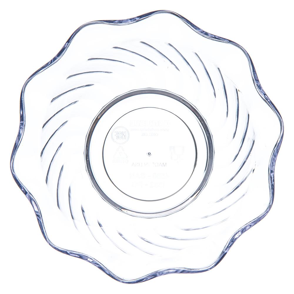 """Carlisle 453207 3.75"""" Round Tulip Dessert Dish w/ 5-oz Capacity, Plastic, Black"""