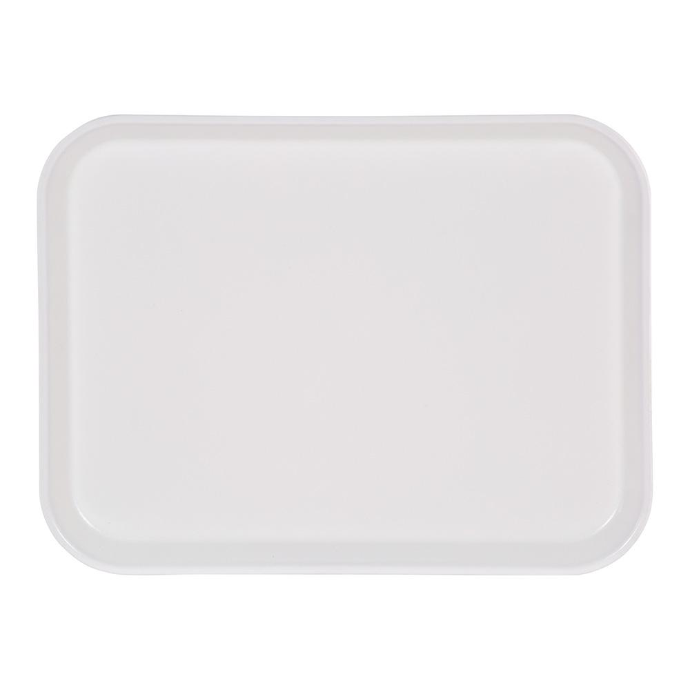 Carlisle 4532FG001 Rectangular Cafeteria Tray - 450x320mm, Bone White