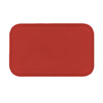Carlisle 4532FG017 Rectangular Cafeteria Tray - 450x320mm, Red