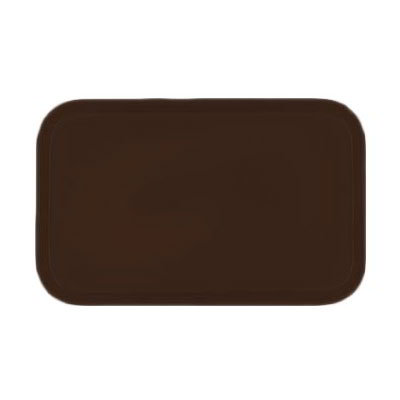 Carlisle 4532FG127 Rectangular Cafeteria Tray - 450x320mm, Chocolate