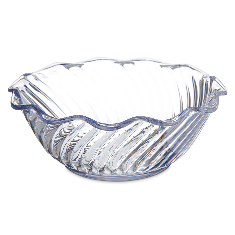 "Carlisle 453307 5.5"" Round Tulip Bowl w/ 13-oz Capacity, Polycarbonate, Clear"