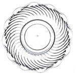 "Carlisle 453407 5.56"" Round Tulip Bowl w/ 13-oz Capacity, Polycarbonate, Clear"