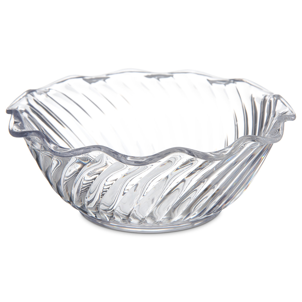 Carlisle 453407 13-oz Tulip Bowl, Polycarbonate, Clear