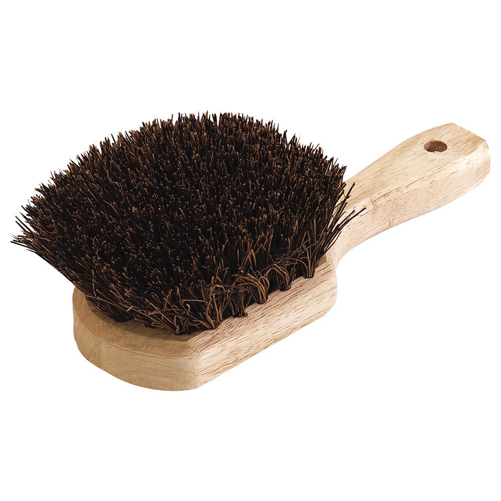 "Carlisle 4546300 8-1/2"" Utility Scrub Brush - Palmyra/Wood"
