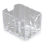 "Carlisle 454907 Sugar Caddy w/ (20) Packet Capacity, 3.375"" x 2.56"" x 2.125"", Plastic, Clear"