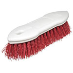 "Carlisle 4549405 8"" Scrub Brush - Plastic/Polyester, Red"