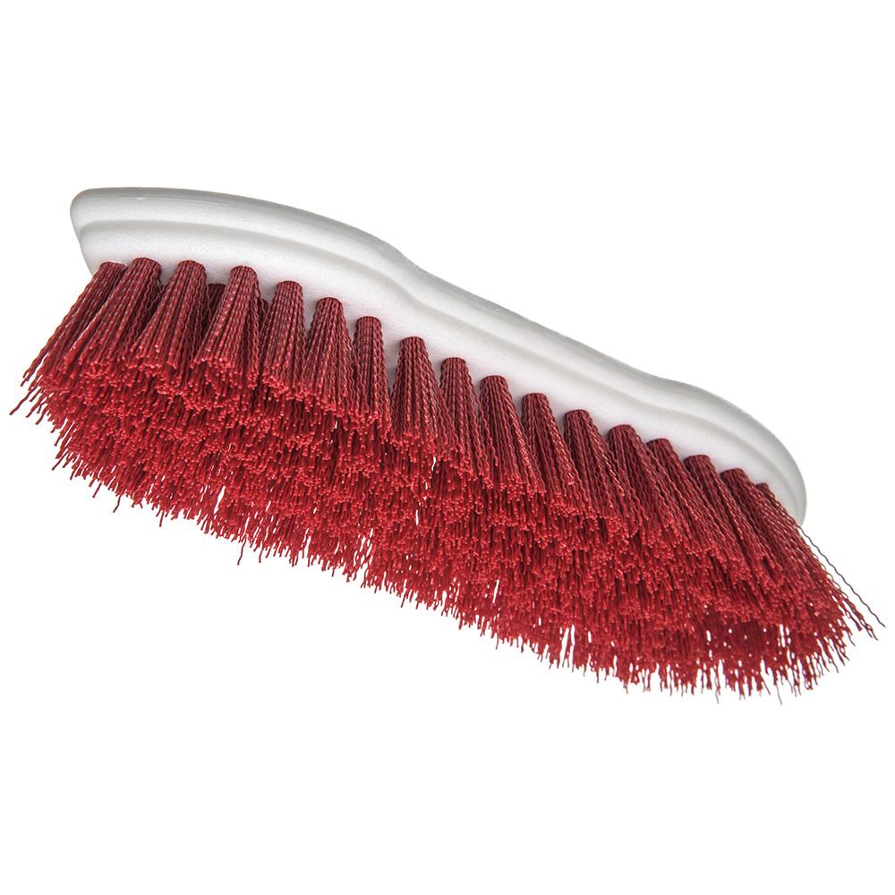 """Carlisle 4549405 8"""" Scrub Brush w/ Polyester Bristles, Red"""