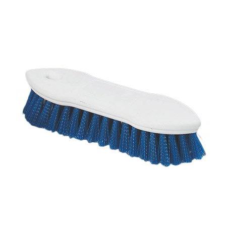 "Carlisle 4549414 8"" Scrub Brush - Plastic/Polyester, Blue"