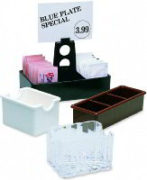 Carlisle 454907 Crystalite Sugar Packet Caddy, Holds 20 Packets, Clear, NSF