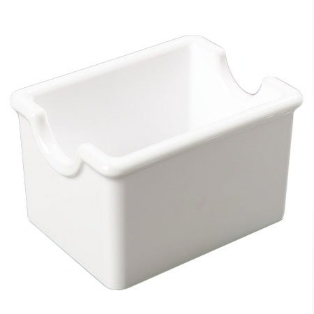 Carlisle 455002 Sugar Packet Caddy - 20-Packet Capacity, Styrene, White