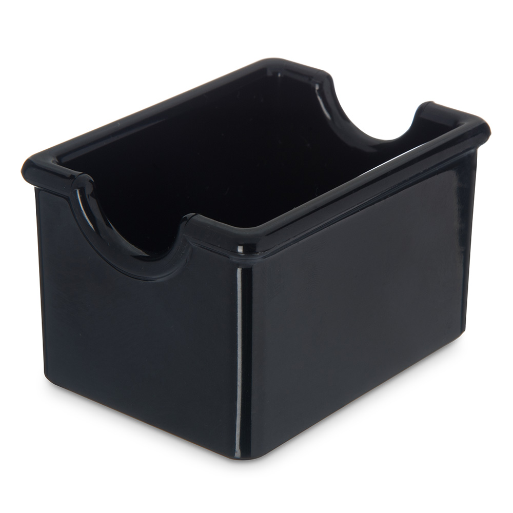 Carlisle 455003 Sugar Packet Caddy - 20-Packet Capacity, Styrene, Black