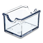 Carlisle 455007 Sugar Packet Caddy - 20-Packet Capacity, Styrene, Clear