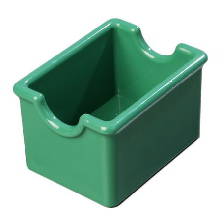 Carlisle 455009 Sugar Packet Caddy - 20-Packet Capacity, Styrene, Meadow Green