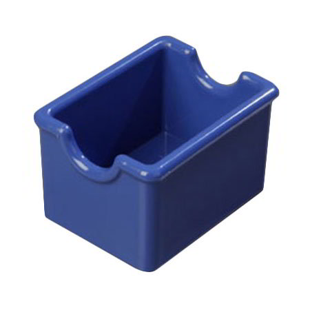 Carlisle 455014 Sugar Packet Caddy - 20-Packet Capacity, Styrene, Ocean Blue
