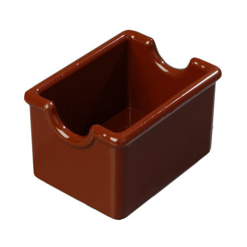 Carlisle 455028 Sugar Packet Caddy - 20-Packet Capacity, Styrene, Lenox Brown