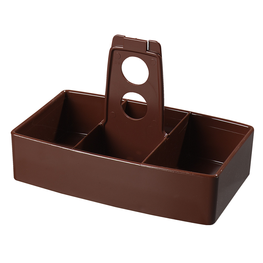 Carlisle 455128 Merchandiser Caddy w/ (50) Sugar Packet Capacity, Plastic, Lenox Brown