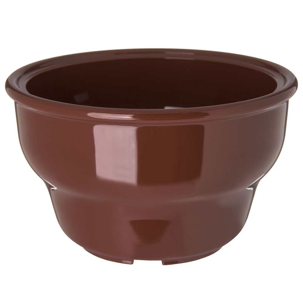 Carlisle 455328 Salsa Bowl, 8 oz, Lenox Brown