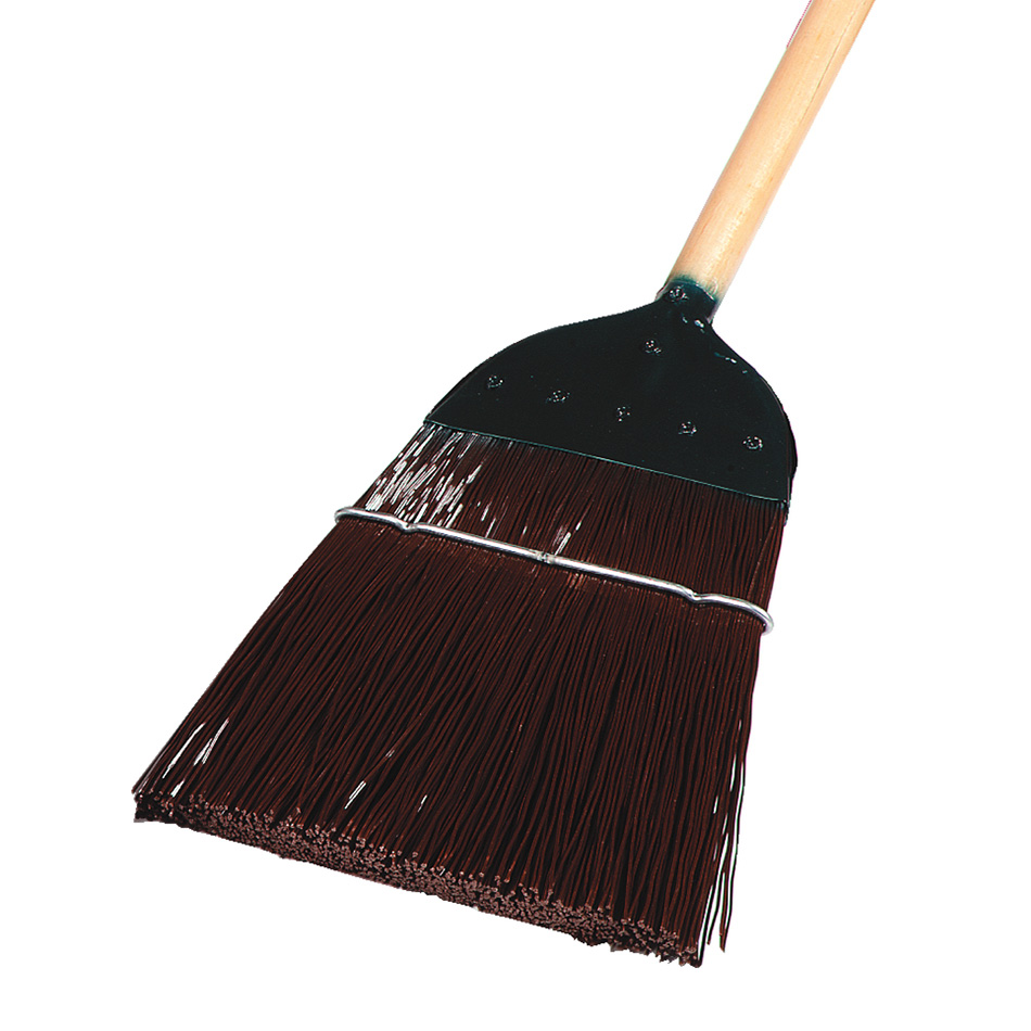 "Carlisle 4564901 54"" Upright Broom - Metal Top, Brown"
