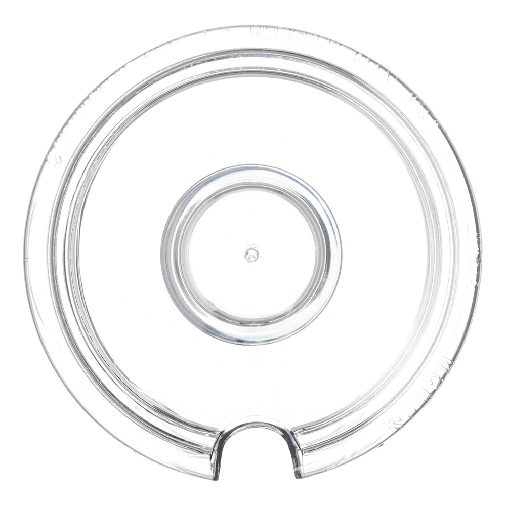 Carlisle 457207 Lid for J-Jar w/ Knob Handle, Plastic, Clear