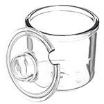 Carlisle 457507 8-oz Condiment Jar w/ Lid, Plastic, Clear