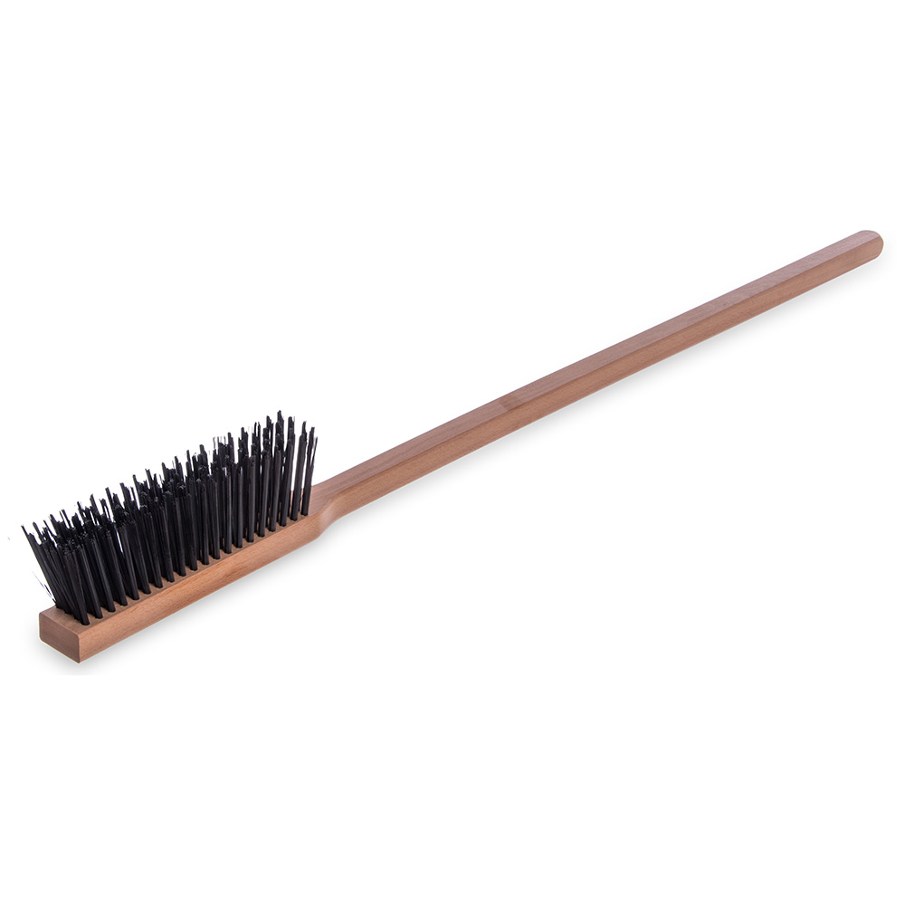 "Carlisle 4577200 36"" Pizza/BBQ Oven Brush - Carbon Steel/Hardwood"