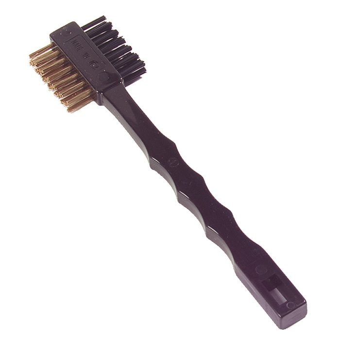 """Carlisle 4579600 7.25"""" Double-Sided Tooth Brush w/ Brass Wire Bristles"""