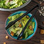 """Carlisle 460903 9""""L Salad Tong - Plastic, Black"""