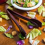 """Carlisle 460901 9""""L Salad Tong - Plastic, Brown"""