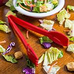 "Carlisle 460905 9""L Salad Tong - Plastic, Red"