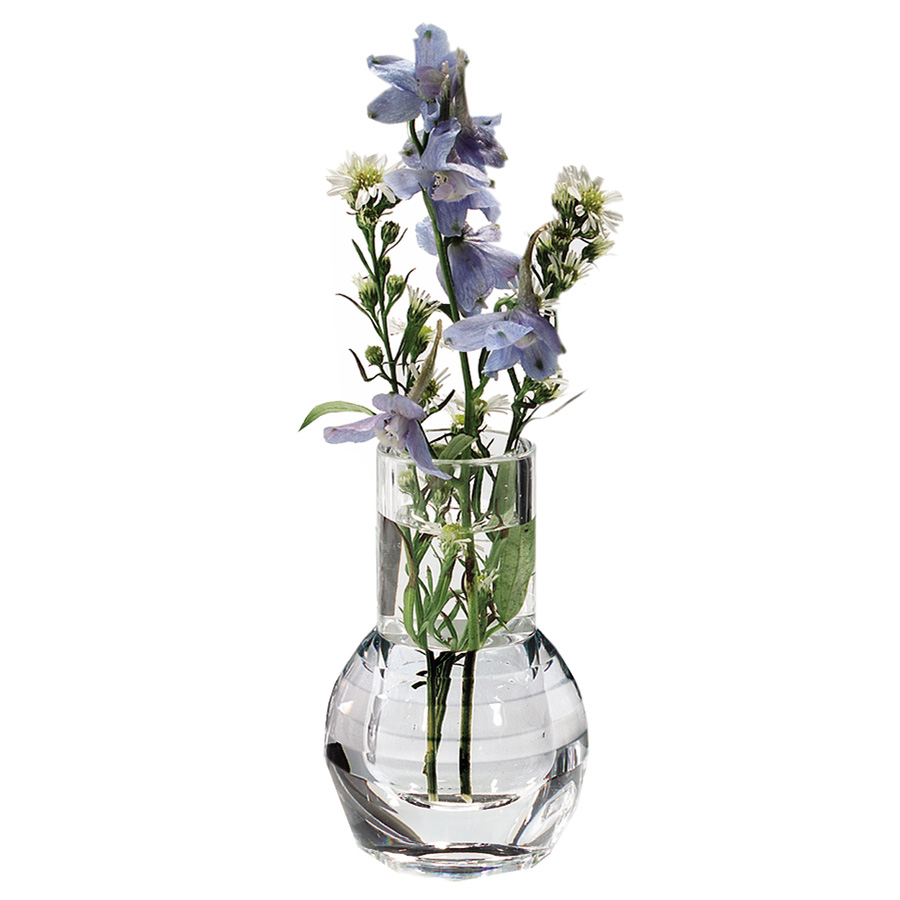 "Carlisle 465007 4"" Bud Vase - Faceted, Acrylic, Clear"