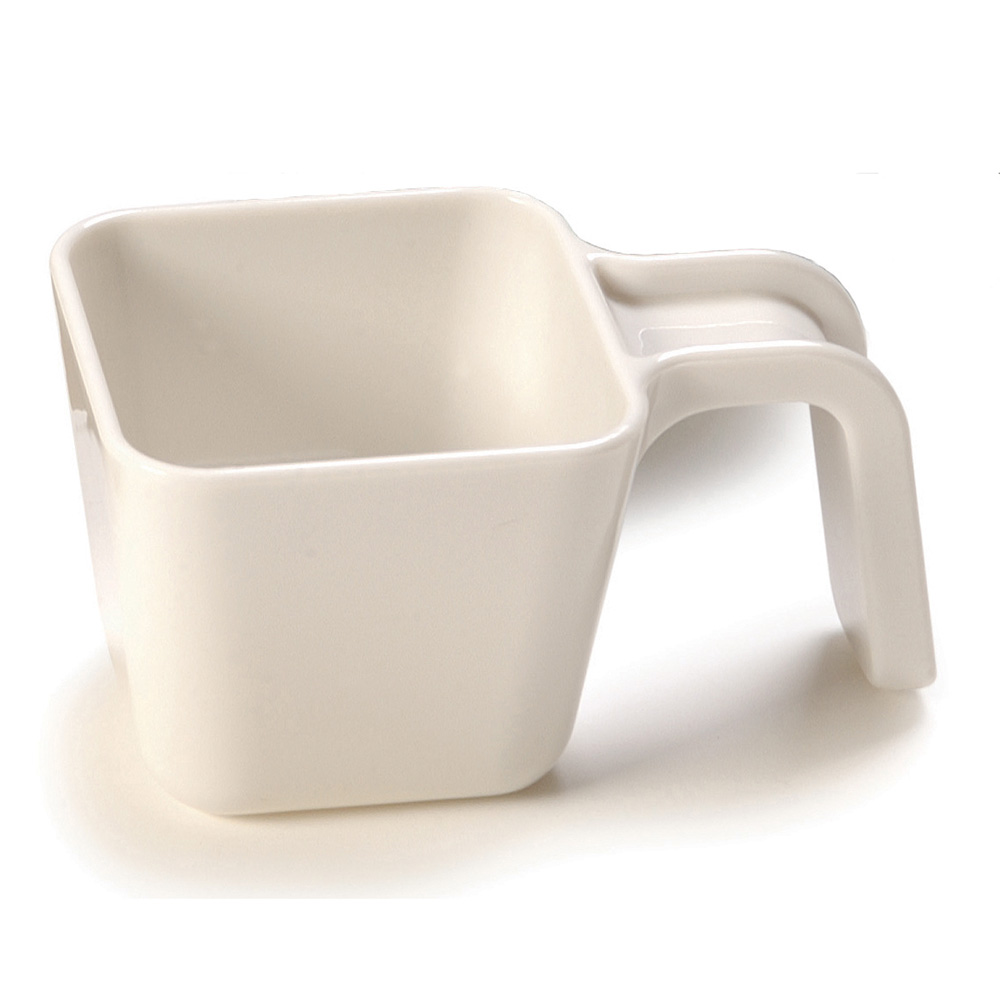 Carlisle 49110-102 9.5-oz Portion Cup w/ Flat Sides, Polycarbonate, White