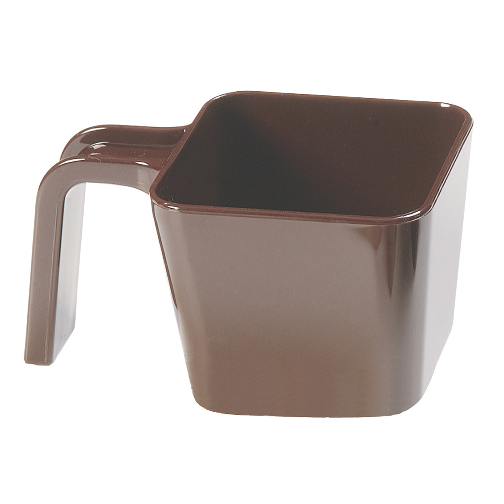 Carlisle 49116-101 16-oz Portion Cup w/ Flat Sides, Polycarbonate, Brown