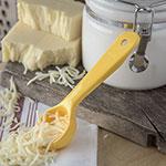 Carlisle 492104 1-oz Solid Portion Spoon w/ Flat Bottom, Plastic, Yellow