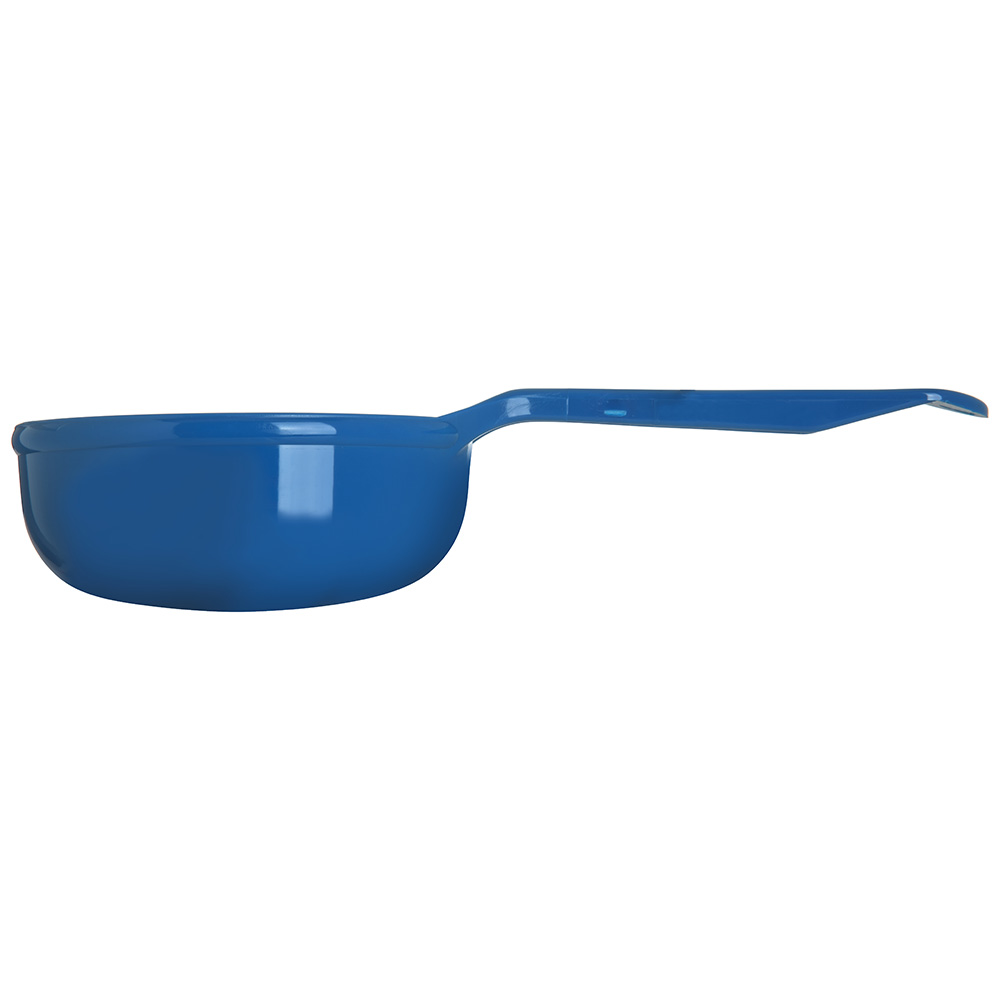 Carlisle 493114 8-oz Solid Portion Spoon w/ Flat Bottom, Plastic, Blue