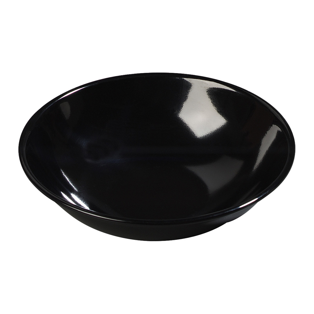 Carlisle 500B03 Salad Bowl, 5-1/2 in, 10 oz., Melamine, Black, NSF