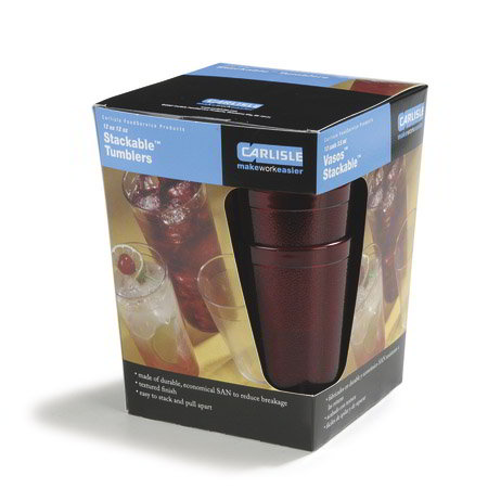 Carlisle 5212-810 12-oz Stackable Tumbler - Ruby