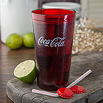 Carlisle 52163550D 16-oz Coca-Cola Stackable Tumbler - Plastic, Ruby