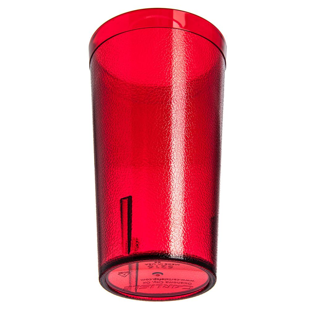 Carlisle 521610 16-oz Stackable Tumbler w/ Textured Exterior, Ruby