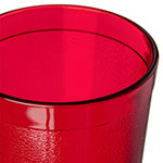 Carlisle 522010 20-oz Stackable Tumbler w/ Textured Exterior, Ruby