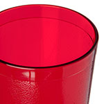 Carlisle 522410 24-oz Stackable Tumbler - Plastic, Ruby